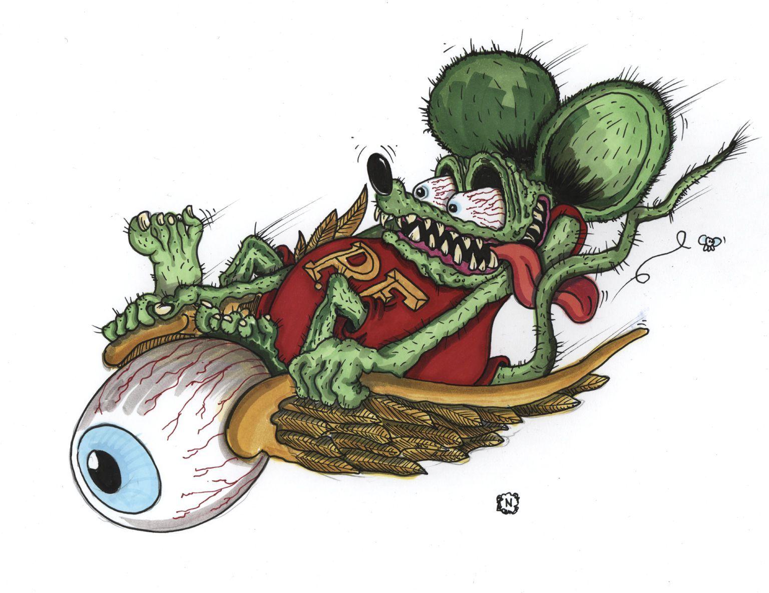 #5 Flying Eyeball Fink Kustom Kulture Rat