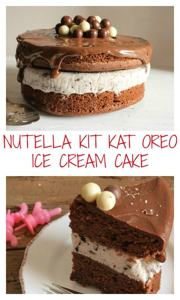 A fast and easy Homemade ice cream birthday cake Delicious