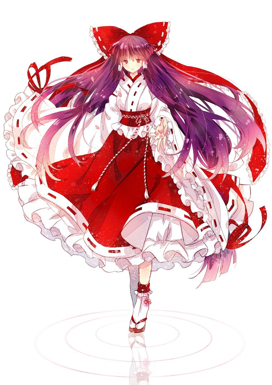 Reimu hakurei pc 98 shrine maiden who protects dream and tradition highly responsive to - Personnage manga fille ...