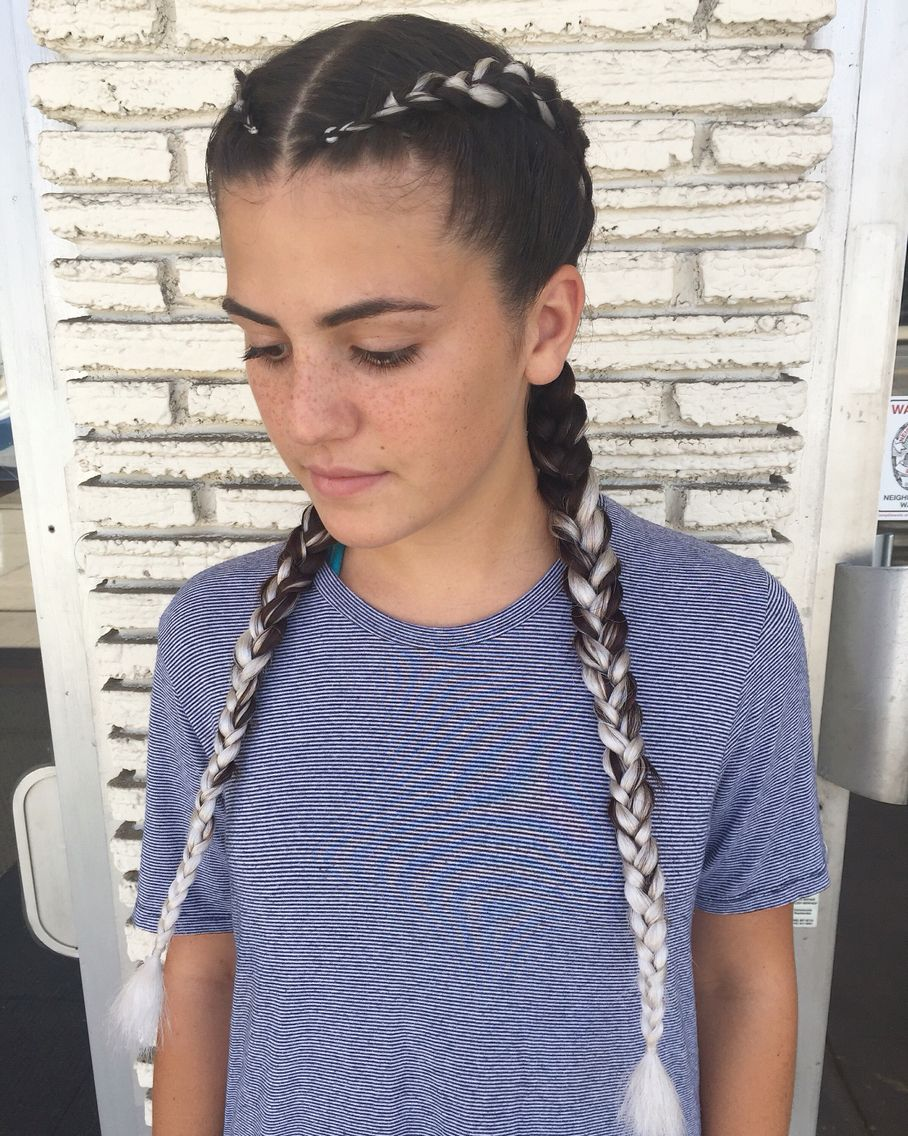 17 Best Images About French Braid With Extensions On Pinterest 2 Hairstyles