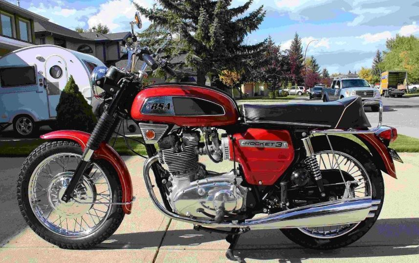 Introduced in 1968 the BSA Rocket 3 was designed and built by ...
