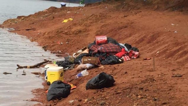 "Oregon Fraternity Says That Trashing a California Lake Isn't a Reflection of Their 'Core Values'--Over the weekend, six photographs showing mounds of garbage left on Slaughterhouse Island, a popular party spot at Shasta-Trinity National Forest in Northern California, were posted to Facebook. ""Here is what a group of University of Oregon students left (they are gone) on Slaughterhouse Island on Lake Shasta,"" Jennifer Vick Cox captioned the photoset. ""Way to represent your school..."" she…"
