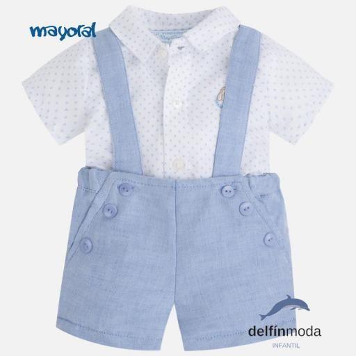 Conjunto de bebe para niño MAYORAL Newborn con camisa y pantalón ... 091dada21e07