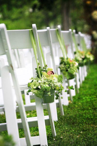 Little greenwhite flower buckets for aisles easy to do too little greenwhite flower buckets for aisles easy to do too mightylinksfo Gallery