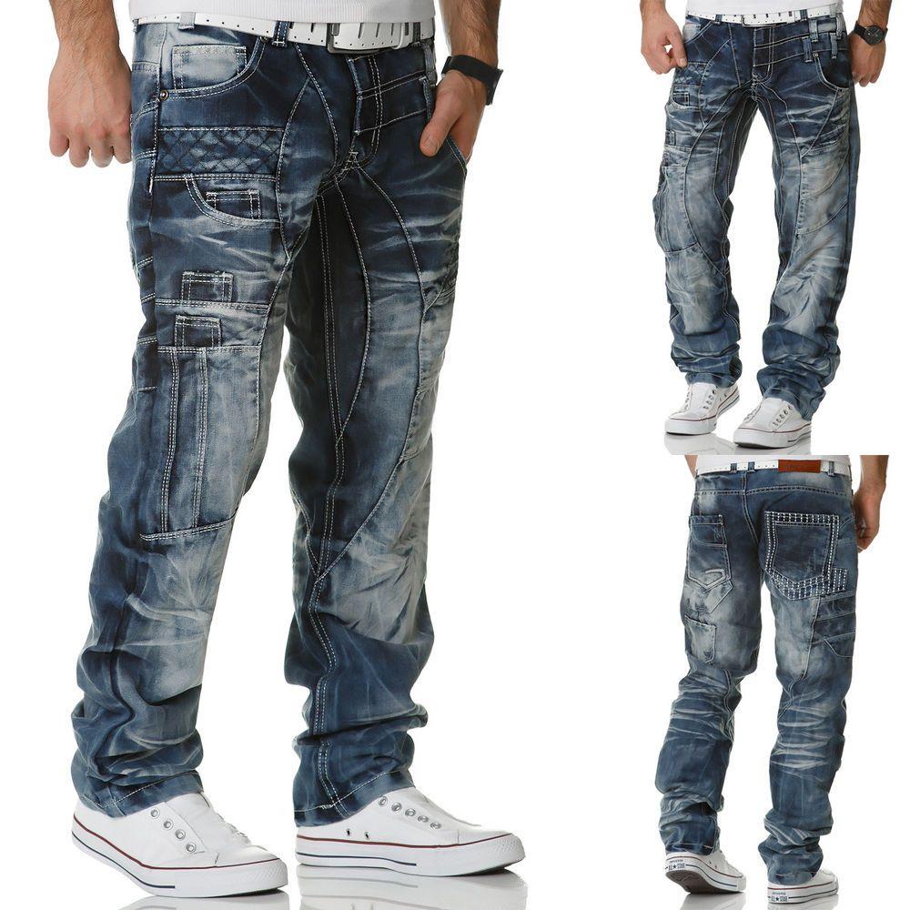 Look Lupo Style Herren Denim Clubwear Used Japan Jeans Kosmo Hose Ibgy76fYv
