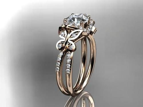 Diamond Butterfly Engagement Rings Women Images