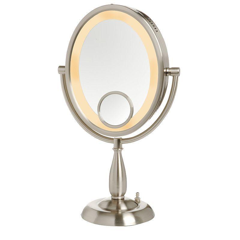 Jerdon 8 In Lighted Vanity Mirror Grey Lighted Vanity Mirror Makeup Mirror With Lights