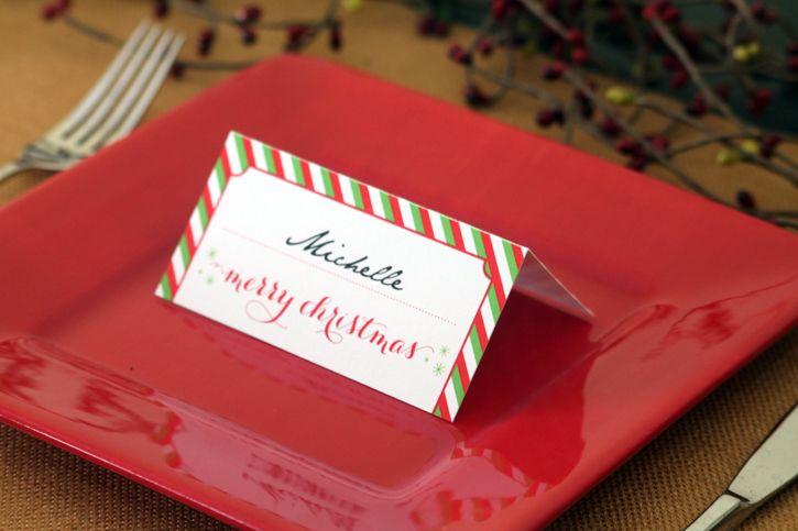 Holiday Place Card Diy Printable Christmas Place Cards Holiday Place Cards Pop Up Card Templates