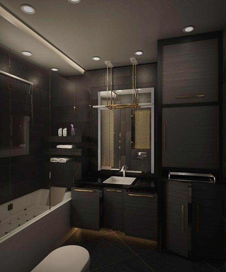 Progetti Di Bagni Moderni.Bagni Neri Moderni 25 Foto Di Progetti Di Design Bagni Di