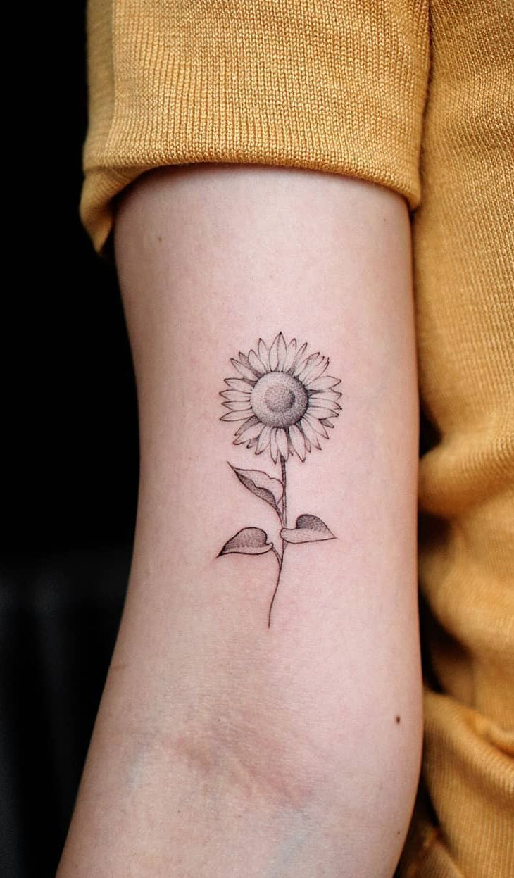 Celebrate the Beauty of Nature with these Inspirational Sunflower Tattoos – KickAss Things