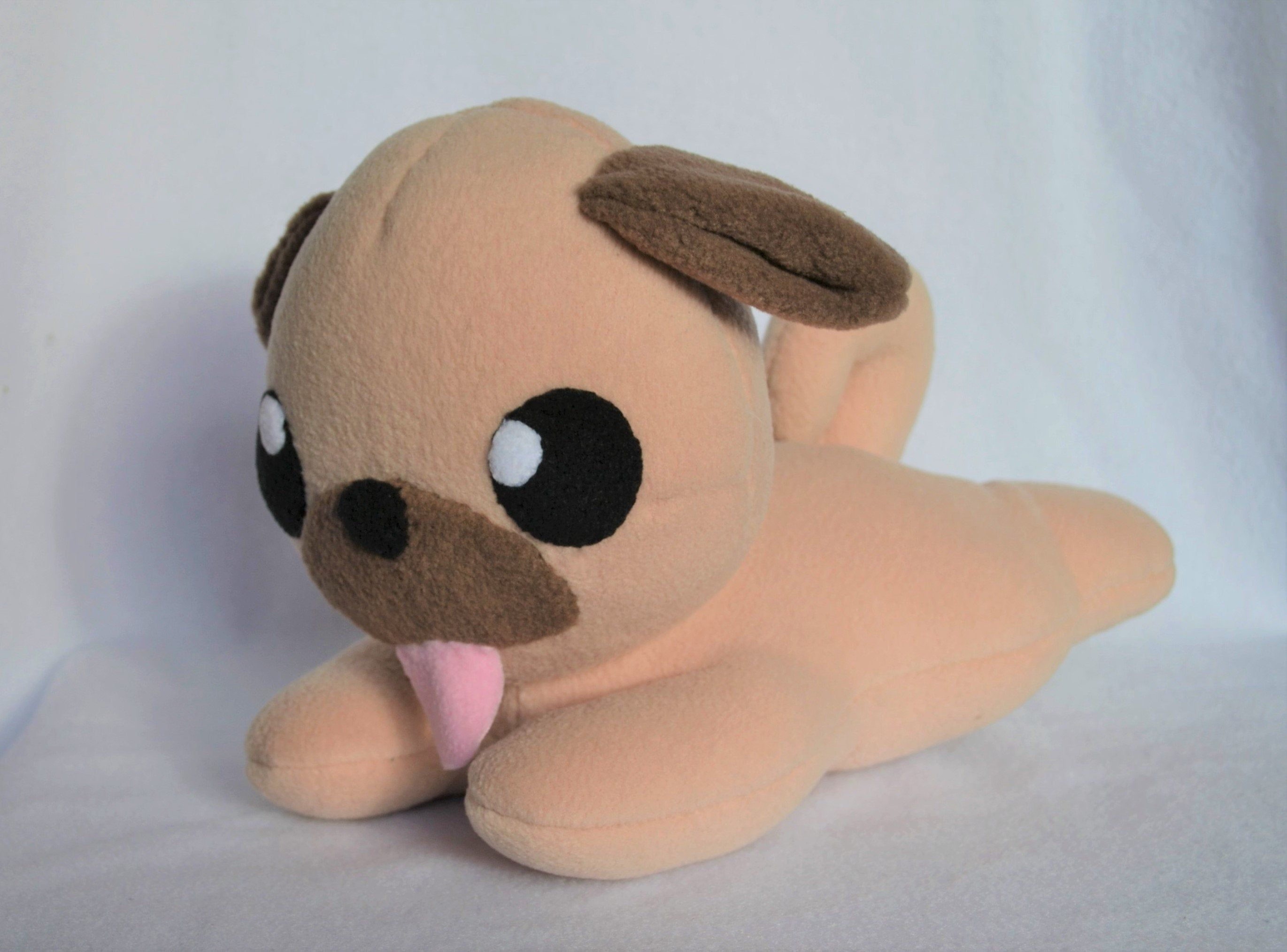 Chibi Lying Pug Dog Plush Cute Dog Toys Pugs Dog Lover Gifts