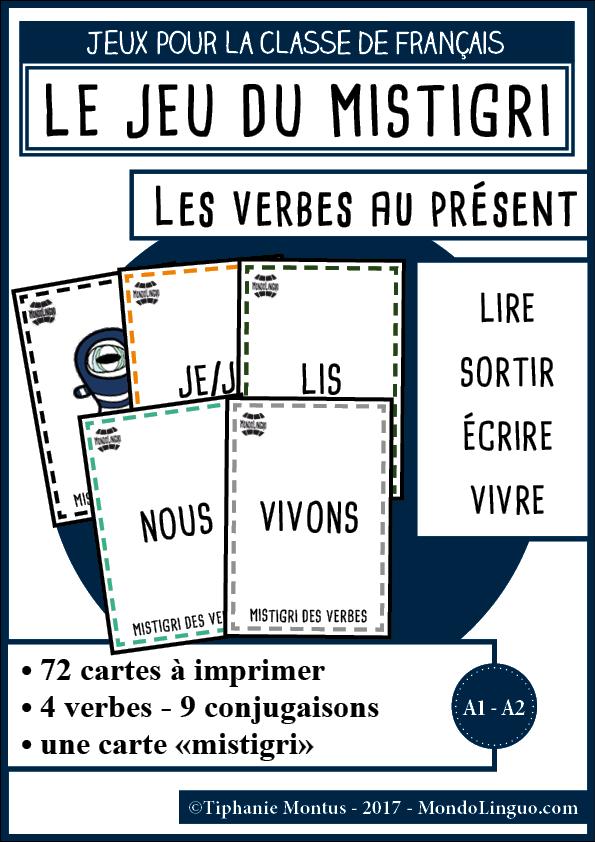 Mistigri Des Verbes Lire Sortir Ecrire Vivre Mondolinguo Francais Jeux De Grammaire Verbe Conjugaison Cm2