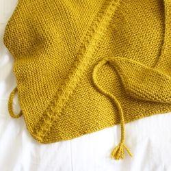 Patron tricot de chèche à motif chevron Marcel à télécharger