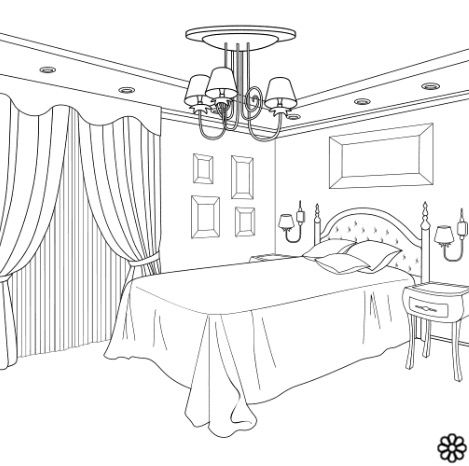 Pin By Manal Ayadh On Coloring Interior Design Sketches Bedroom