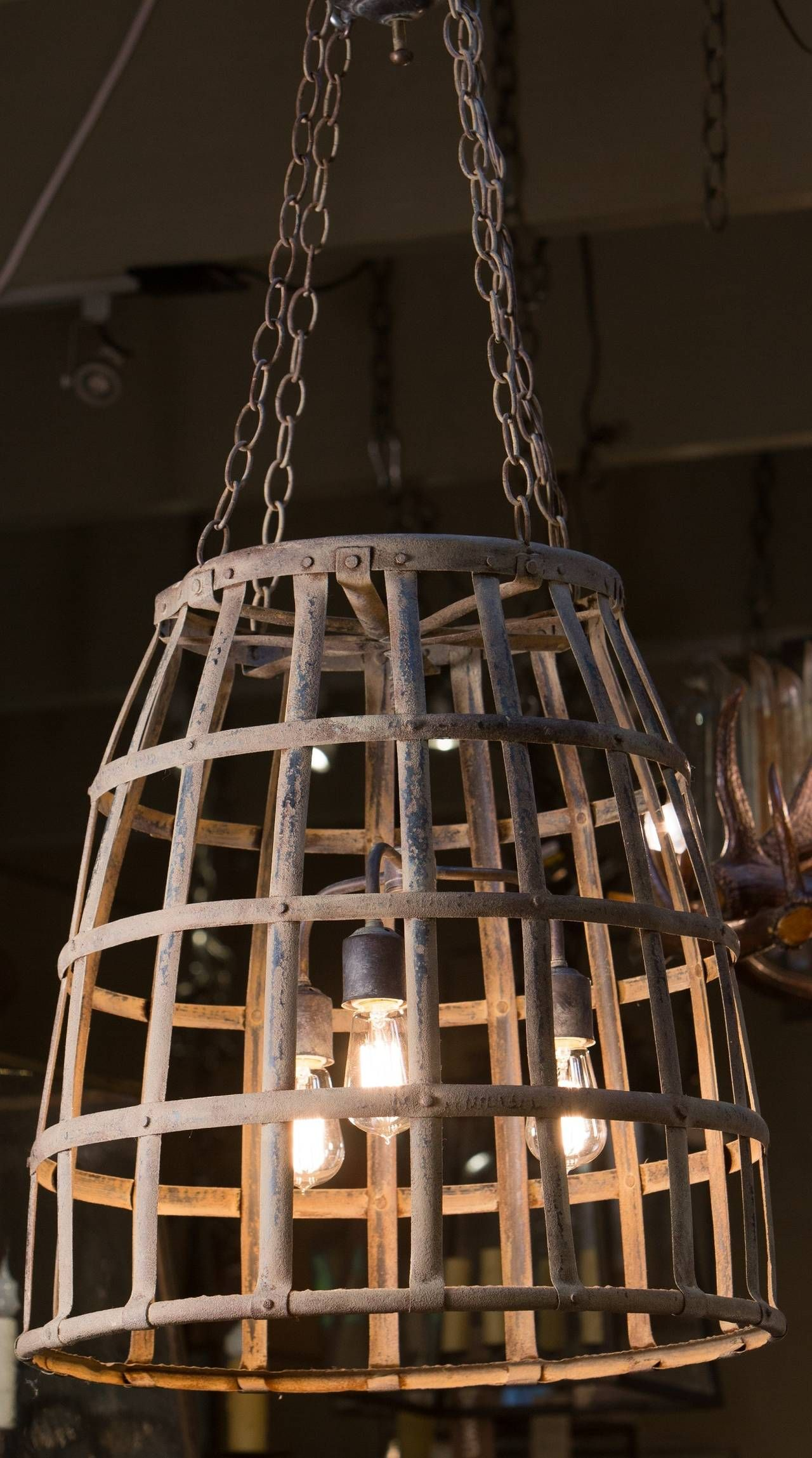 Handmade woven iron basket light from a unique collection of handmade woven iron basket light modern chandelierchandeliershand weaving pendant arubaitofo Image collections