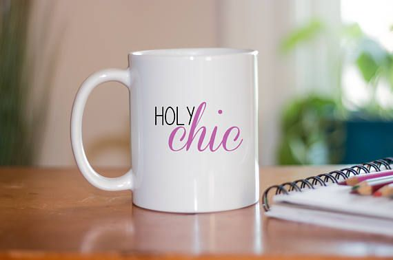 Holy Chic Coffee Mug   Cute Coffee Mugs   Coffee Mugs WIth Sayings   Basic  Bitch Gifts   Funny Mugs   Coffee Mug For Best Friend   Coffee Mugs For  Women ...