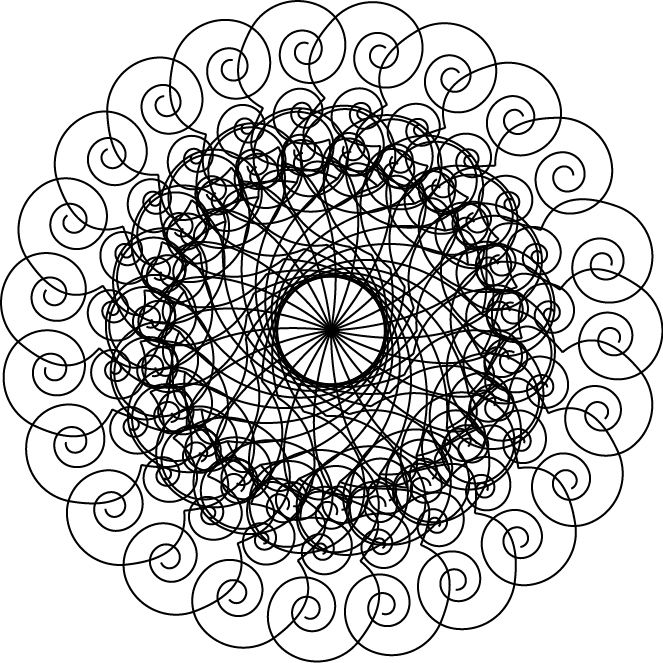fractals colouring pages   coloring pages and black and white ...