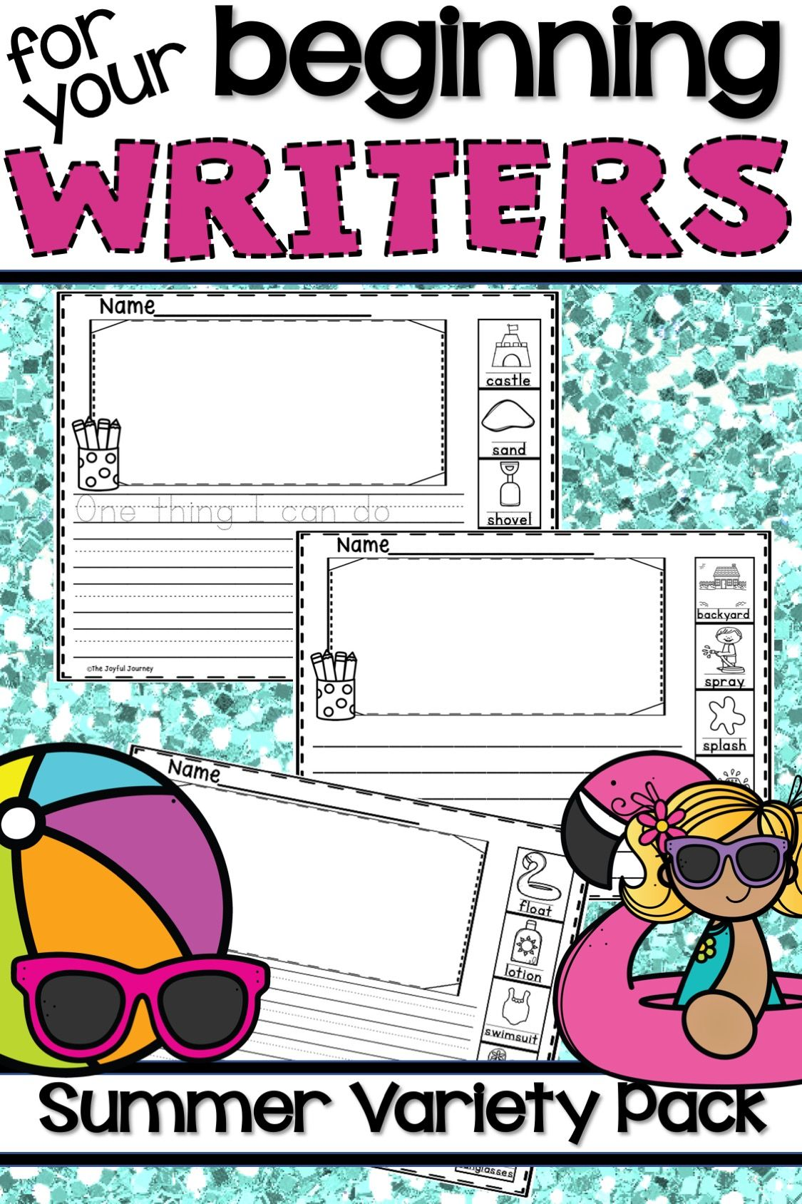 Summer Writing With Picture Word Boxes With Images