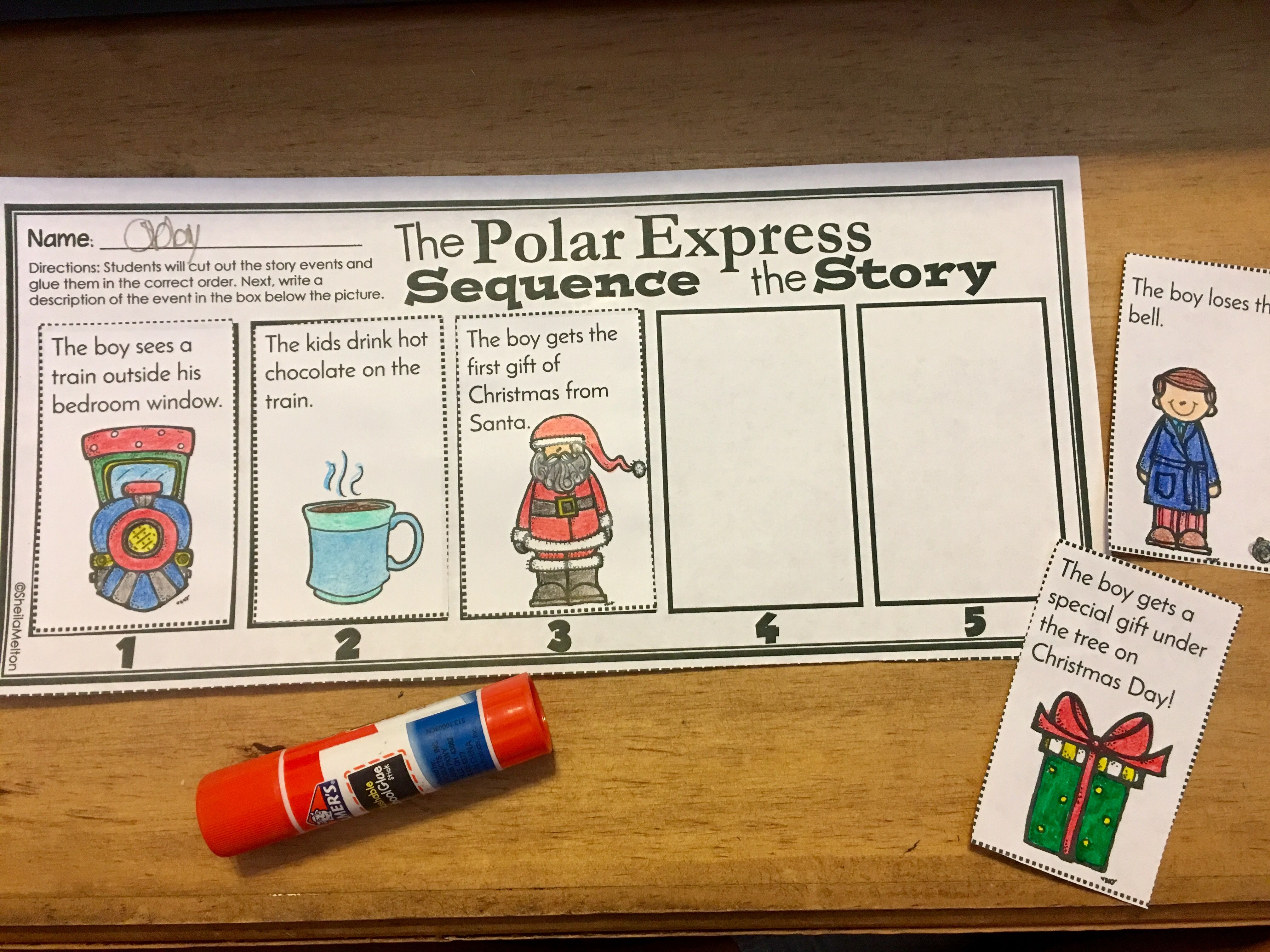 Polar Express Sequence The Story Worksheet Activity