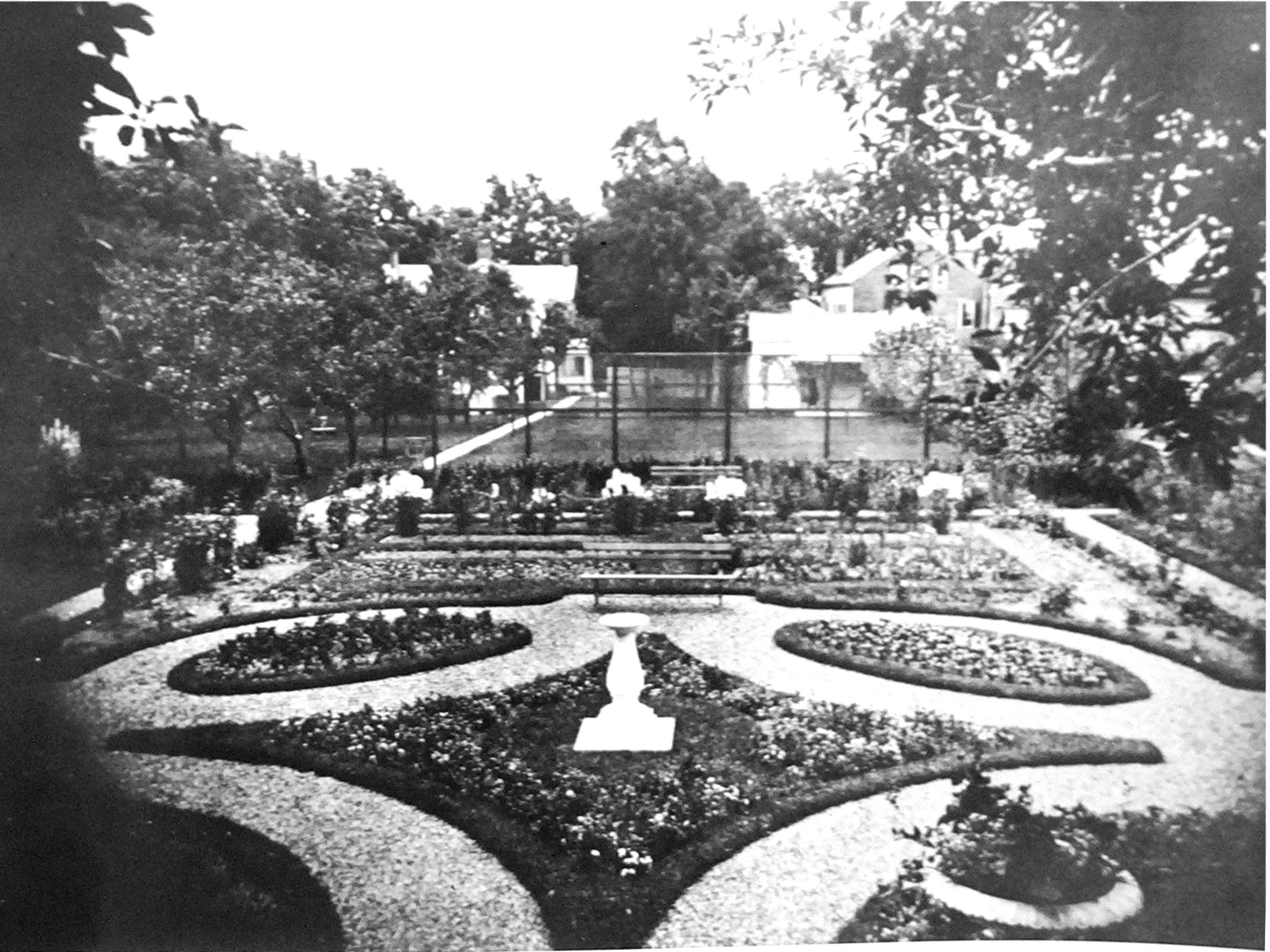 Searls Garden, Ernest Rivenberg caretaker, photo from Rensselaerville Historical Society