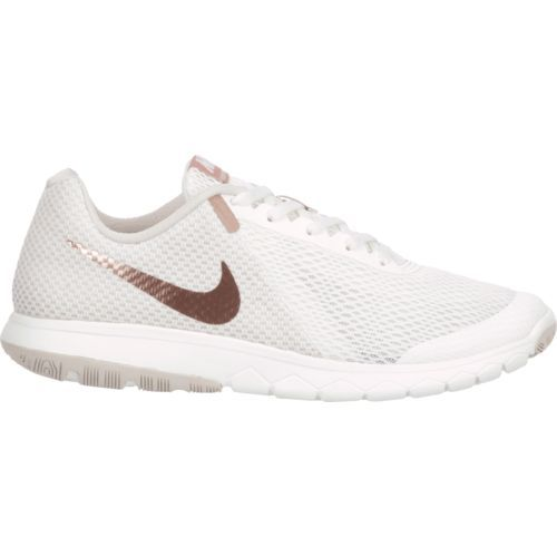 Nike Women s Flex Experience RN 6 Running Shoes (White Medium Red ... 09b42045f