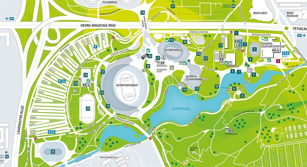 Olympiapark Munchen Lageplan Und Parkgebuhren Anfahrtsplan Olympiapark Munchen Lageplan Olympiapark Olympiapark Munchen Olympia Veranstaltungen Munchen