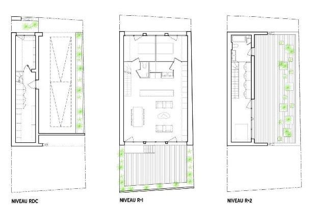 planos planta casa Flying Box