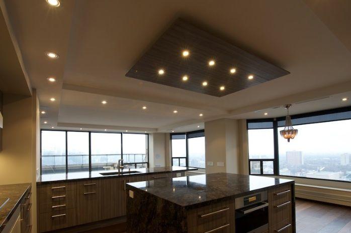 Pot Lights Bring Home To Life Goodworksfurniture In 2020 Modern Kitchen Design Pot Lights Bulkhead Kitchen