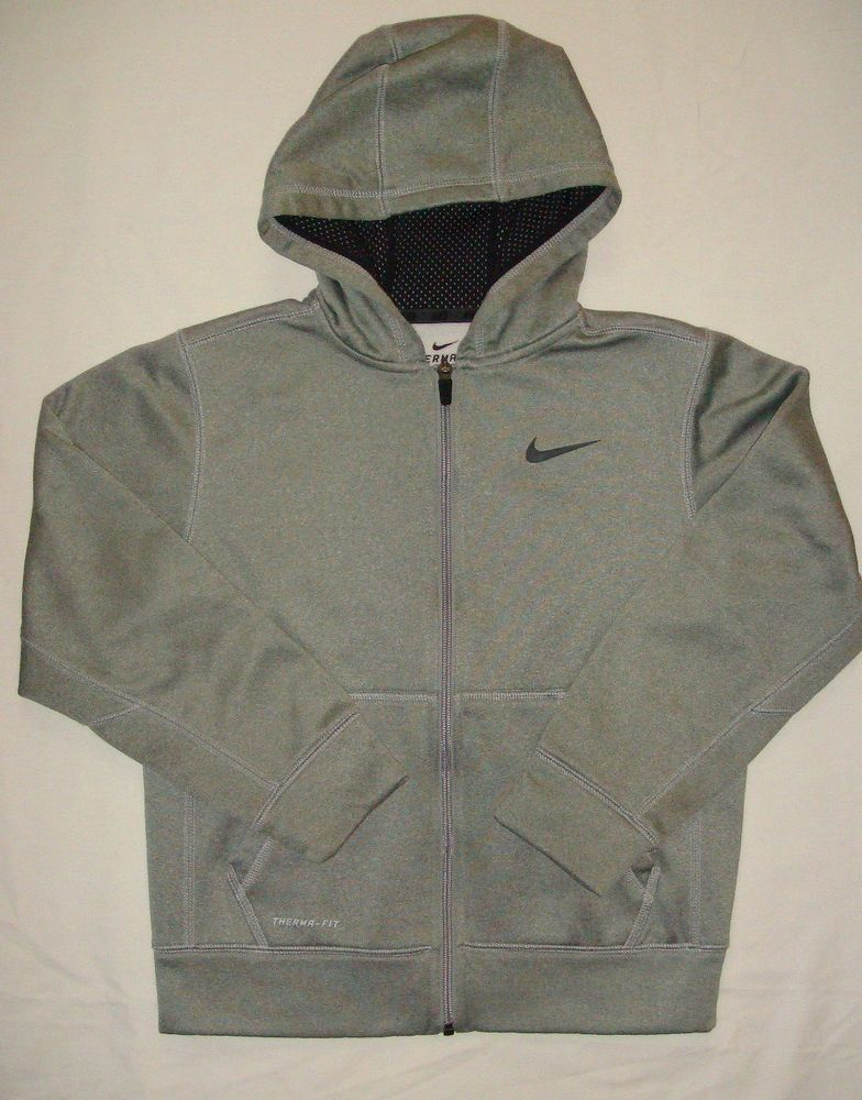 63fe20a5f4b0 Nike Therma-Fit Full Zip Hoodie - Dark Gray Anthracite Boy s M (10-12)   fashion  clothing  shoes  accessories  kidsclothingshoesaccs   boysclothingsizes4up ...