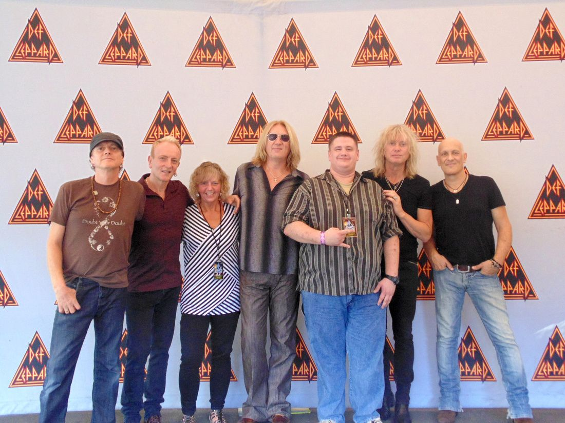 Matts And My Meet And Greet With Def Leppard At Virginia Beach 88