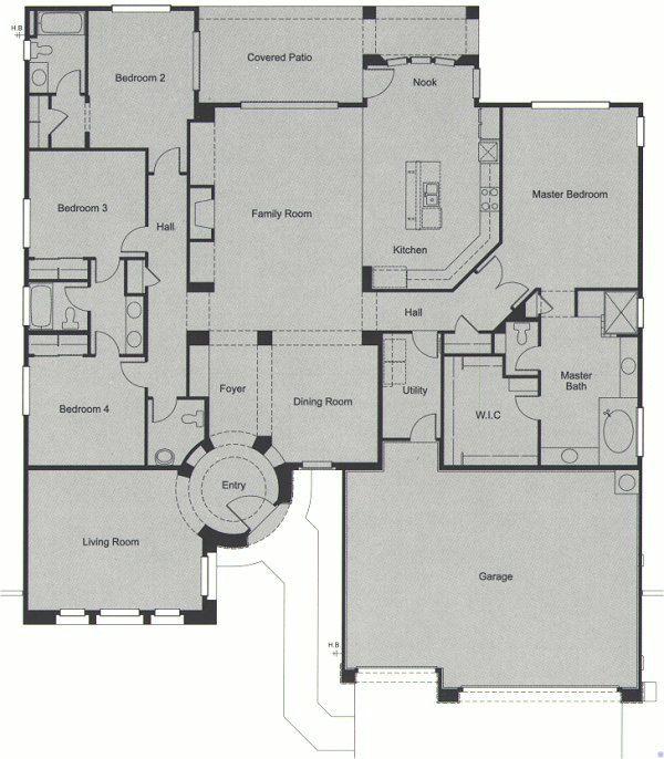 Anthem Country Club Anthem Arizona Del Webb Community Builder Floor Plan Monterey 2977 Square Feet Single Floor Plans Dream House Plans Kensington House