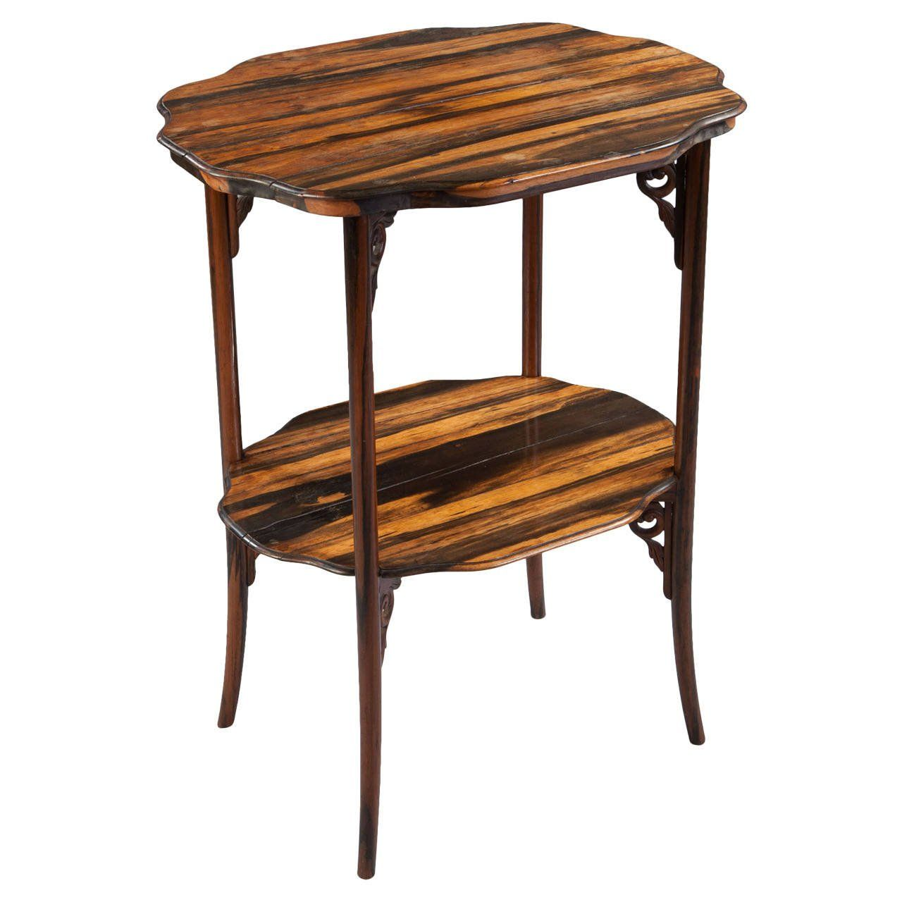 Calamander Wood Folding Campaign Table