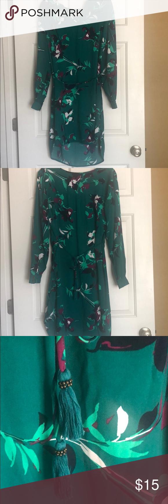 Green Floral Dress Green Floral Dress Long Sleeve Dress Floral Dress [ 1740 x 580 Pixel ]