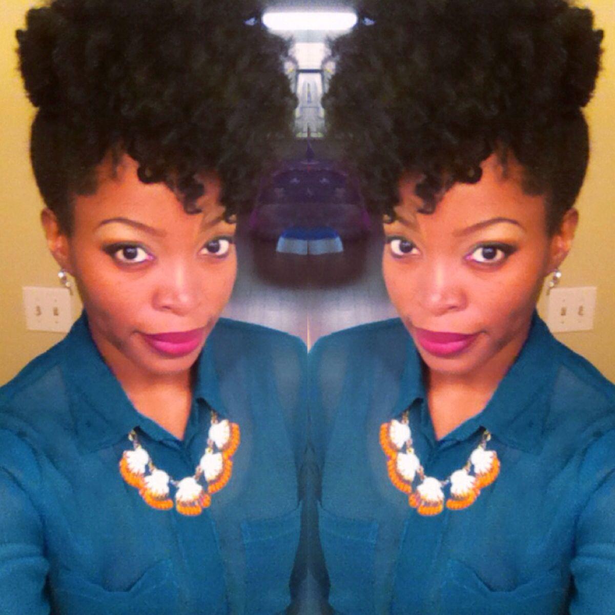 Natural hair style high puff msnaturallymary natural sista