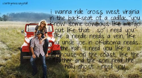 i need you one of my fav songs from Tim & Faith | Music<3333333
