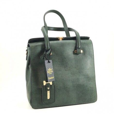 Green Structured Bessie Bag