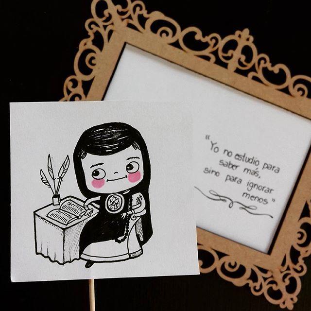 Sor Juana Inés De La Cruz Version Chibi El Fénix De América Sorjuana Frases Doodle Diainternacionaldelam Sor Juana Ilustraciones Caricaturas