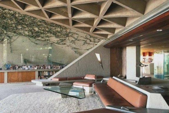 Falso techo de dise o moderno cincuenta modelos techos for Techos planos modernos