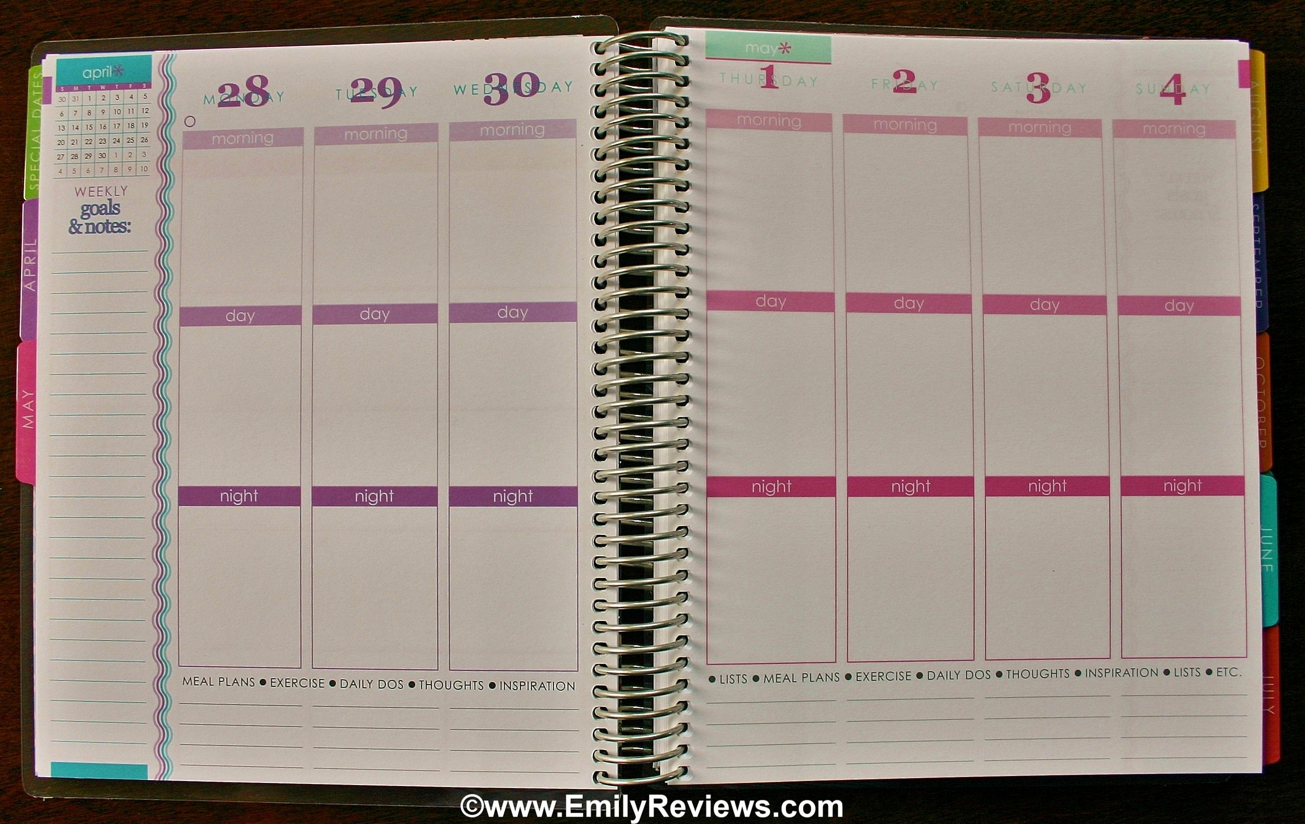 Staying Organized With An Erin Condren Life Planner~ Review | Emily Reviews - #eclifeplanner14