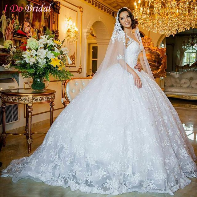 Vintage Lace Wedding Dress With Sleeves Lebanon Ball Gown Abiti Da Sposa Alibaba China Gelinlik 2017