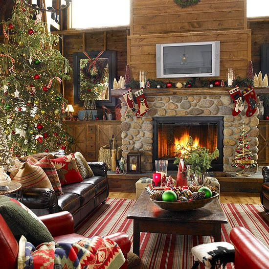 Decorate Your Mantel for Christmas Christmas living rooms Cozy