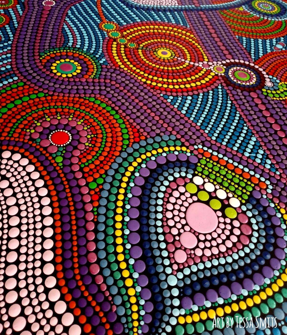 Abstract Dot Art schilderij No.558 | Stippen schilderij | Pinterest ...