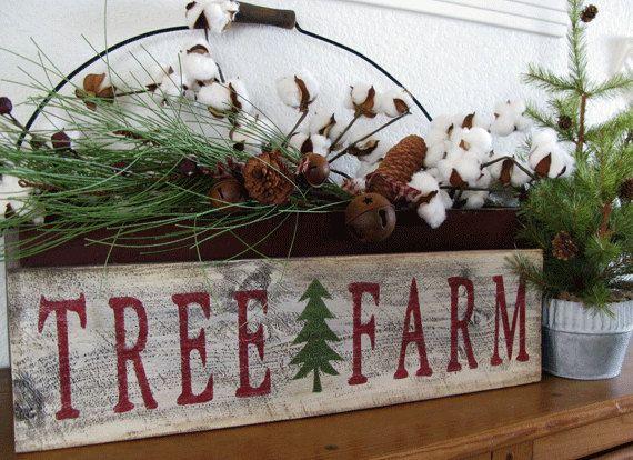 Tree Farm Sign with Christmas Tree - Christmas on the Farm - Tree