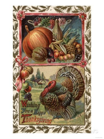 Allposters Com In 2020 Vintage Thanksgiving Greetings Vintage Thanksgiving Cards Thanksgiving Greetings