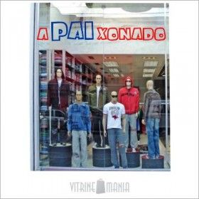 Adesivo de Vitrine Dia dos Pais A-PAI-XONADO-Modelo C