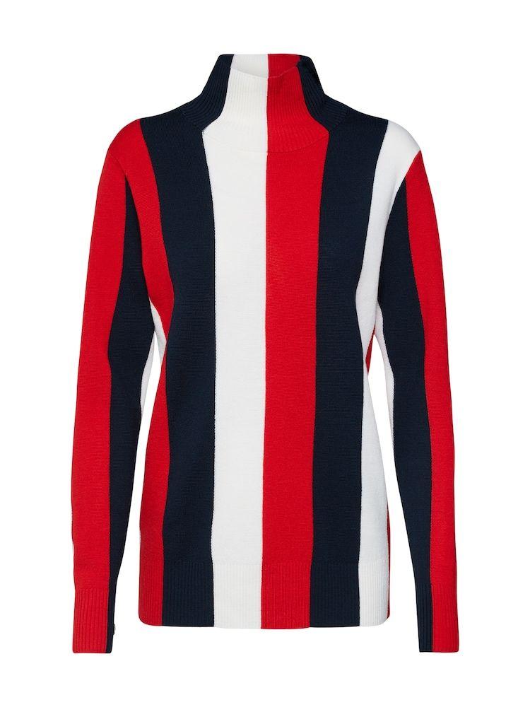 Calvin Klein Pullover Damen Navy Mischfarben Rot Weiss Grosse Xl In 2020 Calvin Klein Pullover Streifenpullover Pullover Damen