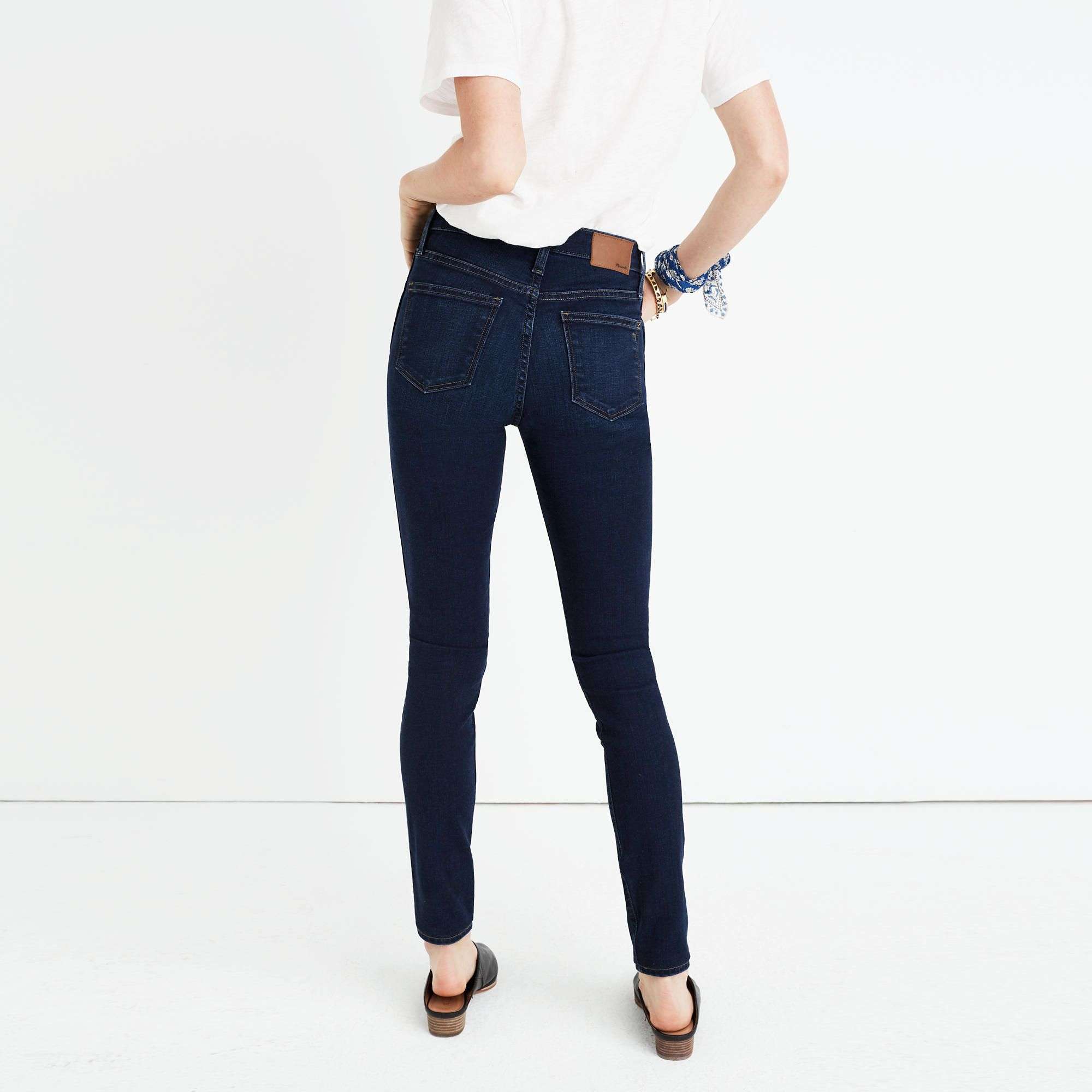 """10"""" High-Rise Skinny Jeans in Hayes Wash : high-rise skinny jeans 