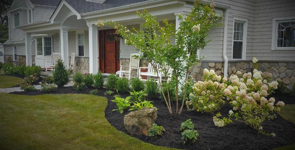 Front yard landscape Design Long island, Design and Build ...