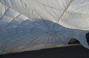 32 White Parachute Canopy Perfect For Weddings Party Dance Ceiling Decoration Ebay