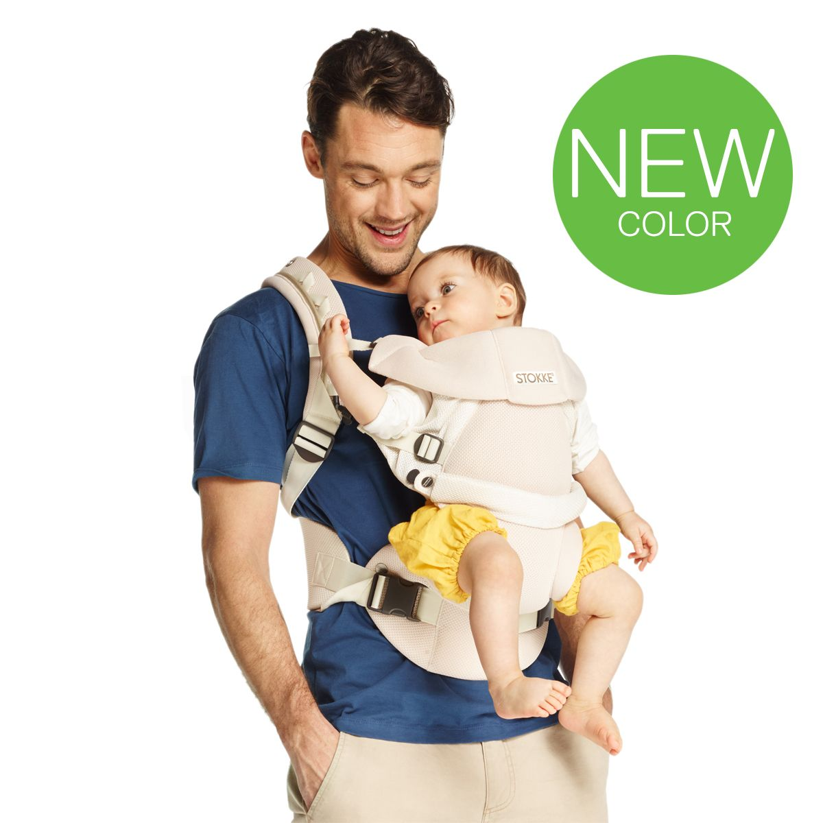 stokke mycarrier 3 in 1 baby carrier cool cream new colour pregnancy baby stuff cool. Black Bedroom Furniture Sets. Home Design Ideas